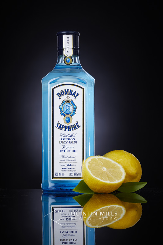 Bombay Sapphire product photography. Commercial photography portfolio